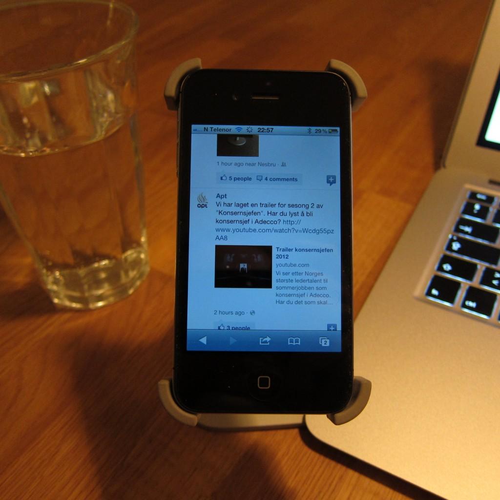 The Facebook mobile web...