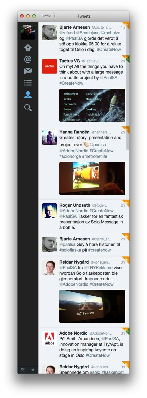 Tweets fra Adobe #CreateNow